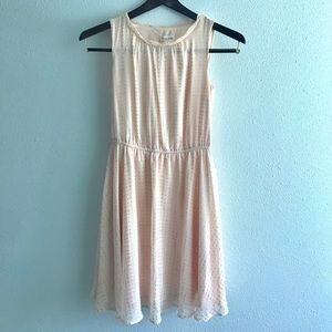 Maison Jules Peach Chiffon Dress